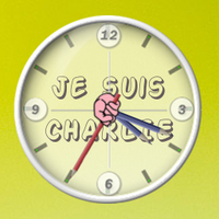 Je suis CHARLIE Conky Clock by jbaseb