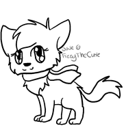 Kitty wif scarf base by x-Fizzy-x