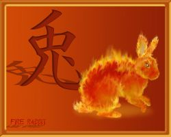 Fire Rabbit by ArtbyBeans