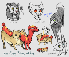 FA Journal freebies and hot dogs by Kemikel