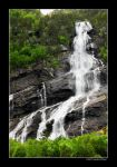 Waterfall in Norway by grugster