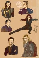 Avengers sketches by the-foolish-princess