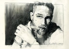 Tom Hardy ii by butterflycell