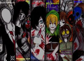 CREEPYPASTA DRAWING by NENEBUBBLEELOVER