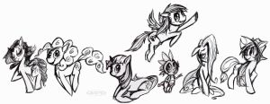 My Puny Horses by aftertaster7