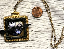 Nightmare Before Christmas Brass Jack Pendant by elllenjean