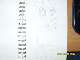 Goku, Radditz Practice Sketch by Mr-Alf