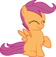 Scootaloo Cute Huged by BaronBronie