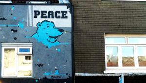 Peace Bear by ggeudraco