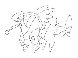 Commission #14 Snivy101 by SupahSanti