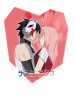 SasuSaku: Andu kiss by MarinaXMadina