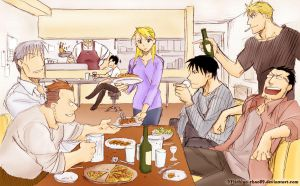 Dinner with Friends by Michiyo-chan89