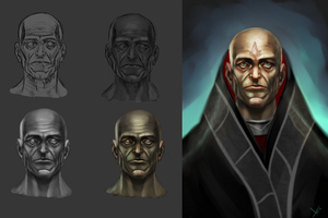 Abbot process head study by victter-le-fou