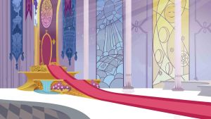 Canterlot Throne room background by theirishbronyx