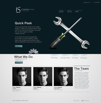 web layout for sale by graphstas