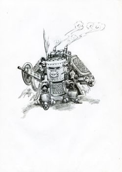 Steam Powered Personal Assault Armour SPPAA or SPA by frankpatriot