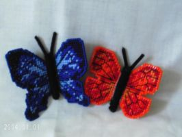 3D Butterfly Magnets by agorby00