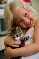 Baby with kitty by v3terinarius