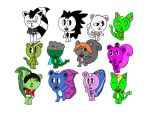 All my character's Part 1. by CuteFlippy4