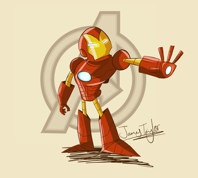 The Invincible Iron Man by FezzedPenguin