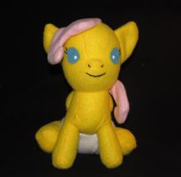 Baby Fluttershy Front View by Gypmina