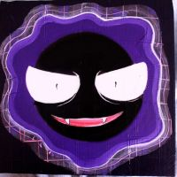 Gastly by Akiraauger