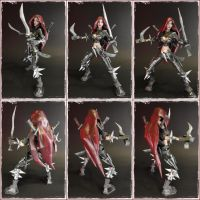 LOL Katarina papercraft (360 view) by BRSpidey