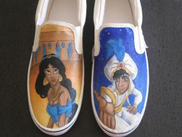 aladdin shoes WIP by AnGuieO