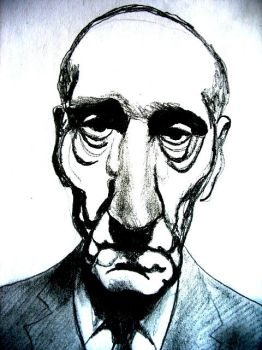 William Burroughs by raschiabarile