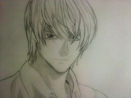Light DeathNote Sketch by Ritunes