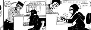 ASL Strip: Xyla the Goth Geek by xyla