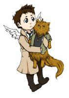 Cas and Dean-Cat by gaarachen