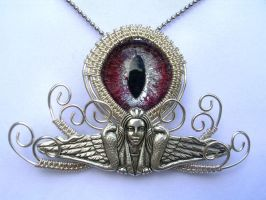 Wire Wrap - Egyptian Snake Goddess Ancient 2 by LadyPirotessa