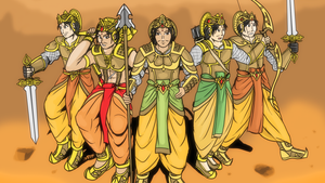 Mahabharata - The Pandava Rangers by VachalenXEON
