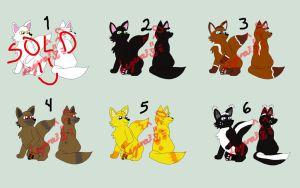 1. ADOPTABLES LITTLE FOX (OPEN 5/6) by leyva1130