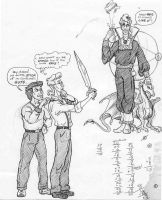 Doodles of Egon and Peter by SandySchreiber