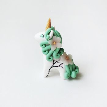 Cherry Blossom Sakura Flower Unicorn Figure by mAd-ArIsToCrAt