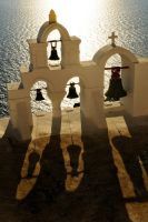 Bell shadows 1 - Santorini by wildplaces