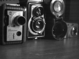 my cameras by mercyloveretro