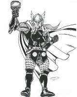 THOR Hovering by FanBoy67