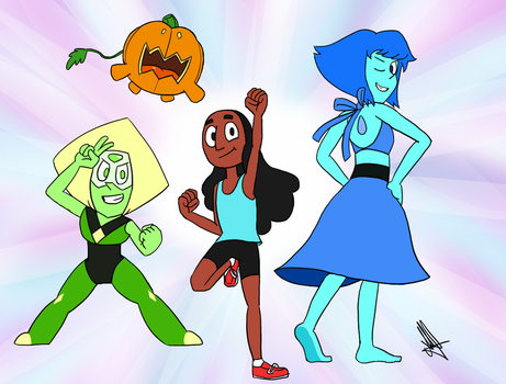 The new Crystal Gems by WhiteQuartzTheArtist