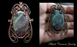 Art Nouveau Agate by blackcurrantjewelry