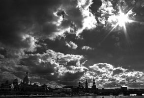 The Sky above Dresden by baronjungern