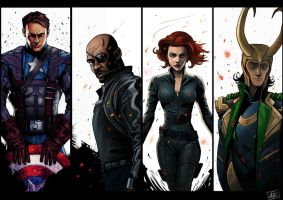 Avengers Line up 01 by JailHouseRock2