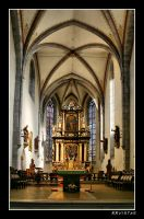 Church Friesach - interior HDR by RRVISTAS