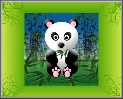 Panda and Bamboo by AngelTimi88