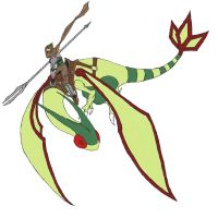 Flygon Knight WIP Color Draft by Argnarock