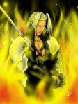 Firestarter Sephiroth by arsenalgearxx