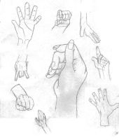 Drawing Practice: Hands by SinisterSorrows