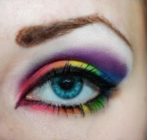 Rainbow eyeshadow by PinkPanda92